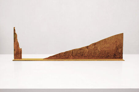 Modell für eine Skulptur aus Corten-Stahl - Steil und sanft ansteigend