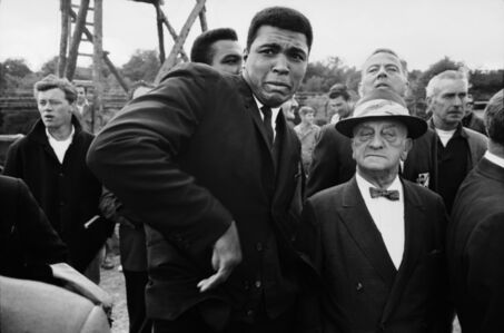 Muhammad Ali scared by a bee whilst in London.