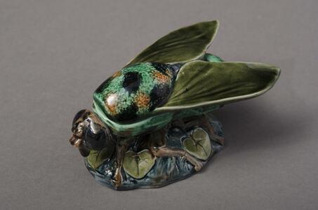 Majolica Bee Form Matchbox
