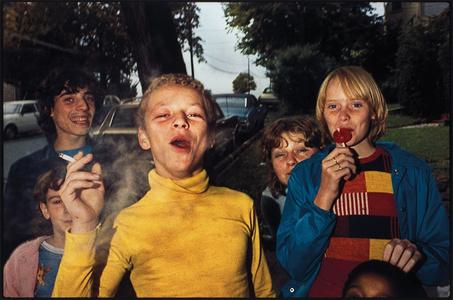 Boy in Yellow Shirt Smoking, Scranton, Pennsylvania