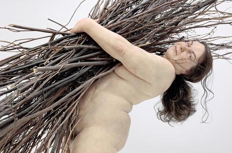 Woman with Sticks