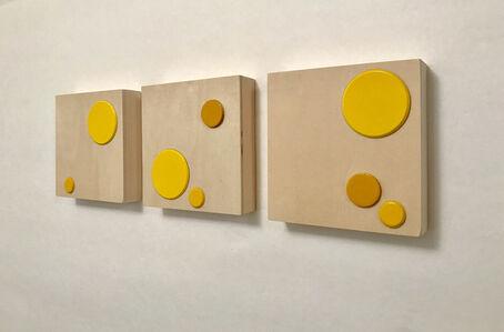 [ Sun ] SPOTS #2 Triptych (for Yayoi Kusama)