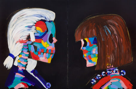 Karl and Anna Face Off (Diptych)