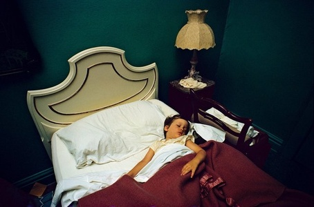 UNTITLED (BOY ASLEEP IN BED, LAMP)