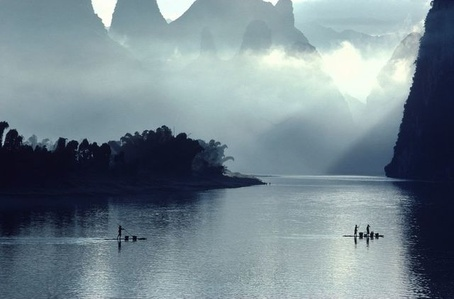 Li river, Guilin, China,