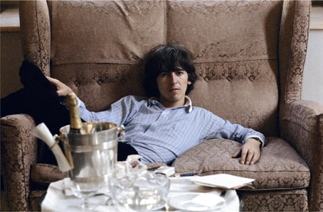 George Harrison, George V hotel, Paris, May 1965