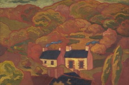 Two Thatched Cottages (Les deux chaumières)
