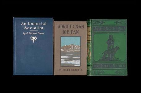 """An Unsocial Socialist"" from ""Once Upon a Time in Delaware/In Quest of the Perfect Book"" (""Sorted Books"" project, 1993--ongoing)"