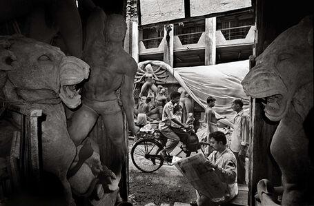 Preparing for Durga Pooja, Kolkata