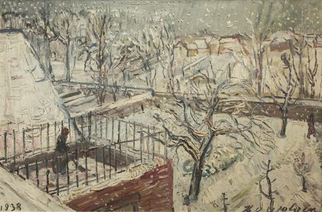 Jardin dans la neige