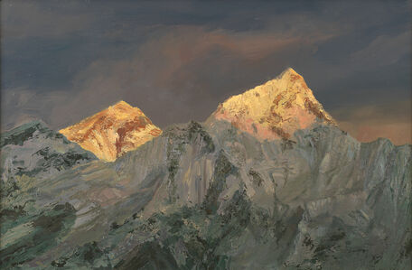 Sun Setting on Mount Everest