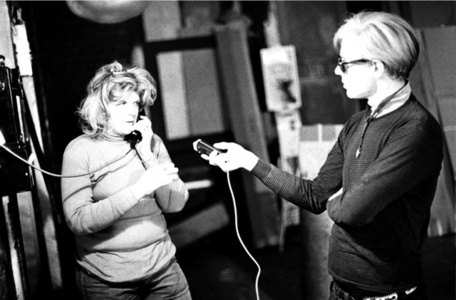 Andy Warhol records Brigid Berlin talking on the Factory payphone