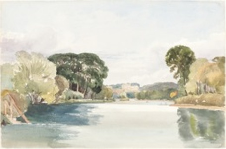 River Scene with Distant Castle