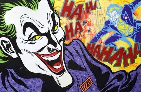 The Joker keeps laughing