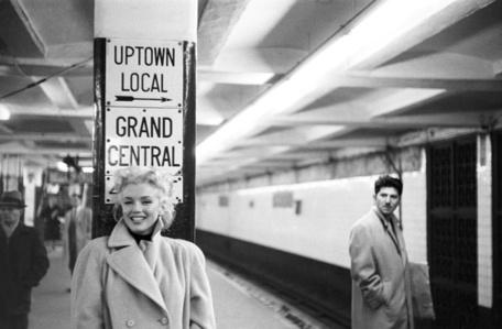 'Marilyn In Grand Central' Marilyn Monroe