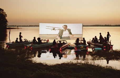 Floating drive-in, Florida