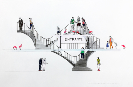 Untitled (Study for Entrance to Zoo, Inner Circle)