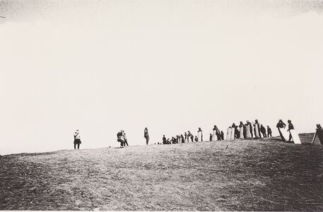 Women Facing the Police on a Hilltop, Narita, Chiba (Sanrizka series)