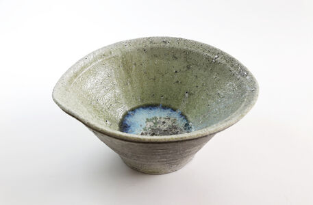 Natural ash glaze oni-oke ( devil-jar )
