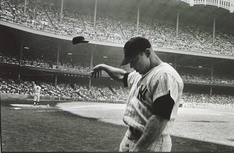 Mickey Mantle Having a Bad Day at Yankee Stadium