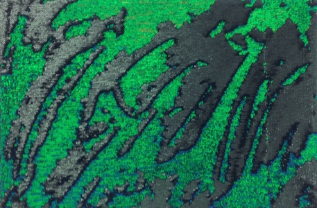Untitled (Iridescent green and black)