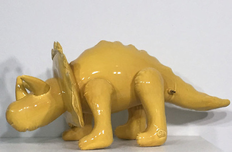 Inflatable Triceratops Large  (Yellow)