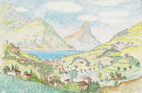 Montagnola - Blick auf den Luganersee