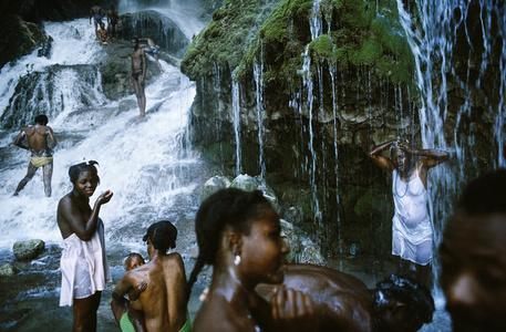 Saut D'eau pilgrimage. Haiti.