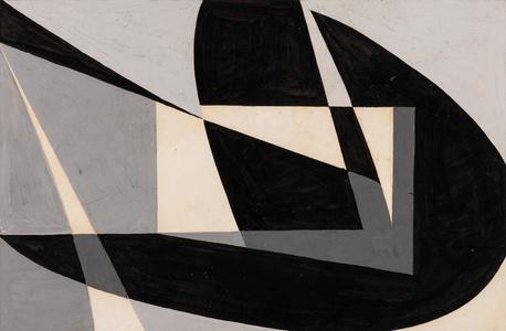 "Macquette ""Composicion Abstracta en Negro"""