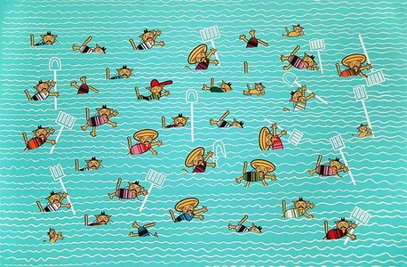 Amigos De La Granja Nadando El Rio Grande
