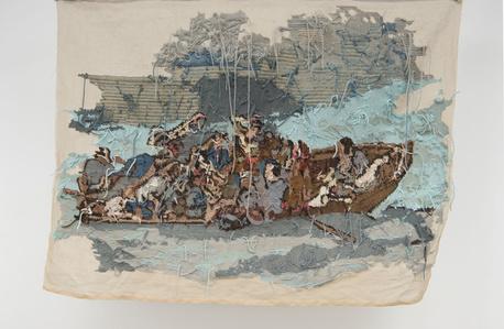 """Banner 7, from """"Le naufrage de Don Juan"""", Eugène Delacroix"""