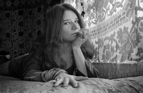 Janis Joplin on her Bed in her Lyon Street Apartment, San Fransisco, 1967