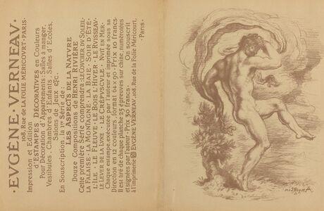 "Dancing Nude and Advertisement for Eugène Verneau's ""Estampes décoratives"" [verso]"