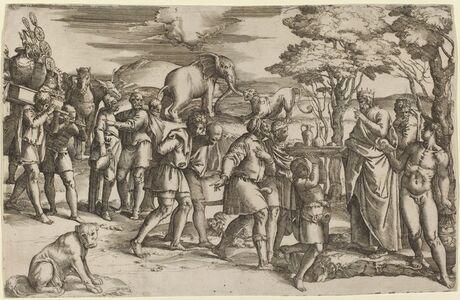 Abraham Paying Tithes to Melchisedek