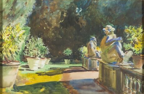 Marlia Garden: Lucca, Italy [After John Singer Sargent]