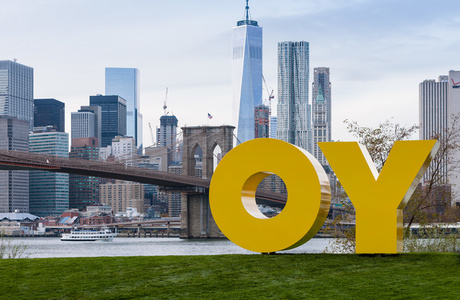 "Deborah Kass ""OY/YO"" at Brooklyn Bridge Park"