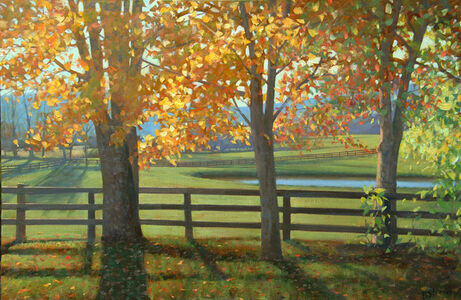 "October Light (24"" x 36"" unframed) (dimensions provided adjacent are with frame)"