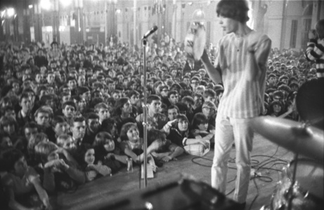 Jagger with Tambourine, around 4am, 'All-Nighter', Alexandra Palace