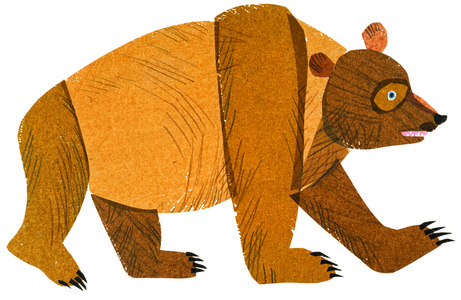 "Illustration from ""Brown Bear, Brown Bear, What Do You See?"""