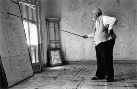 Henri Matisse in his studio.