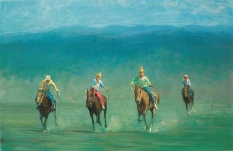 Naadam Horse Race,Mongolia