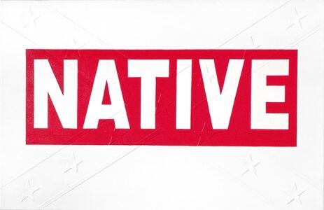 Red Native Bumper Sticker