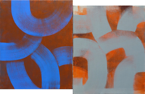 Diptych (Blue, Earth, Grey)