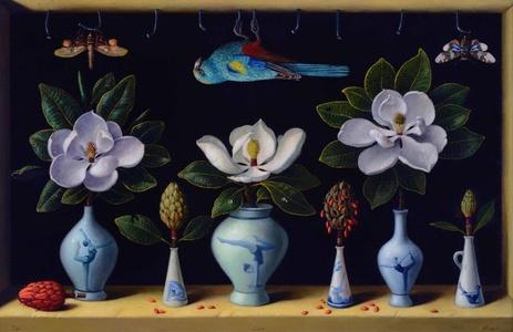 Niche of Vases, Maidens, & Magnolias