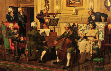 Colonists Playing Music