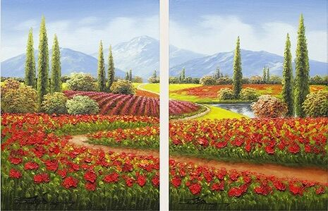 Happy Trails - Diptych