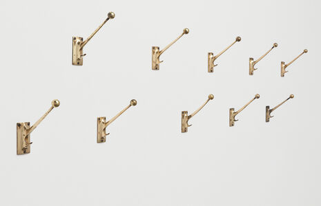 Set of ten wall hooks, designed for the Kniže haberdashery, Vienna