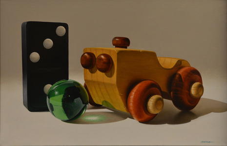 Wooden Car and Marble