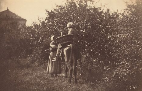 Two Women with Donkey