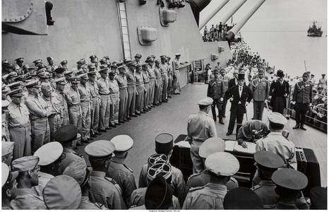 Japanese Surrender on Board the U.S.S. Missouri in Tokyo Bay